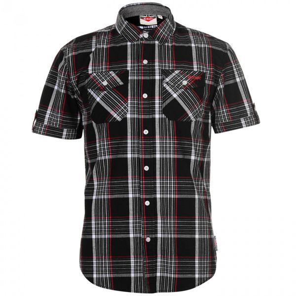 Lee Cooper Lee Cooper SS Check Shirt Mens
